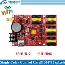 HD W63 usb + wifi 8 * hub12 4 * hub08 단색 (1024*128 픽셀) 및 듀얼 컬러 (512*128 픽셀) led 디스플레이 제어 카드