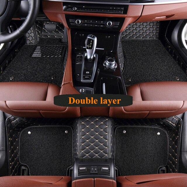 Tapis de sol spécial pour voiture | Pour Mercedes Benz GLS 450 X167 2020 6 7 sièges, deux couches, tapis de voiture durables, pour GLS450 2020