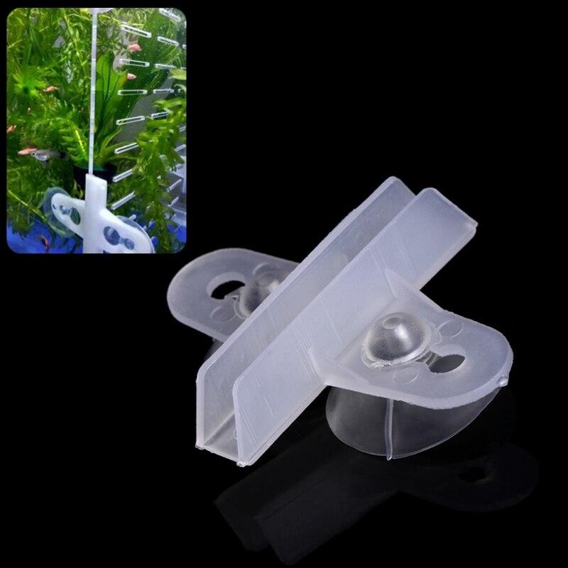 5pcs Aquarium Fish Tank Divider Suction Cup Divider Plastic Sheet Holder Set