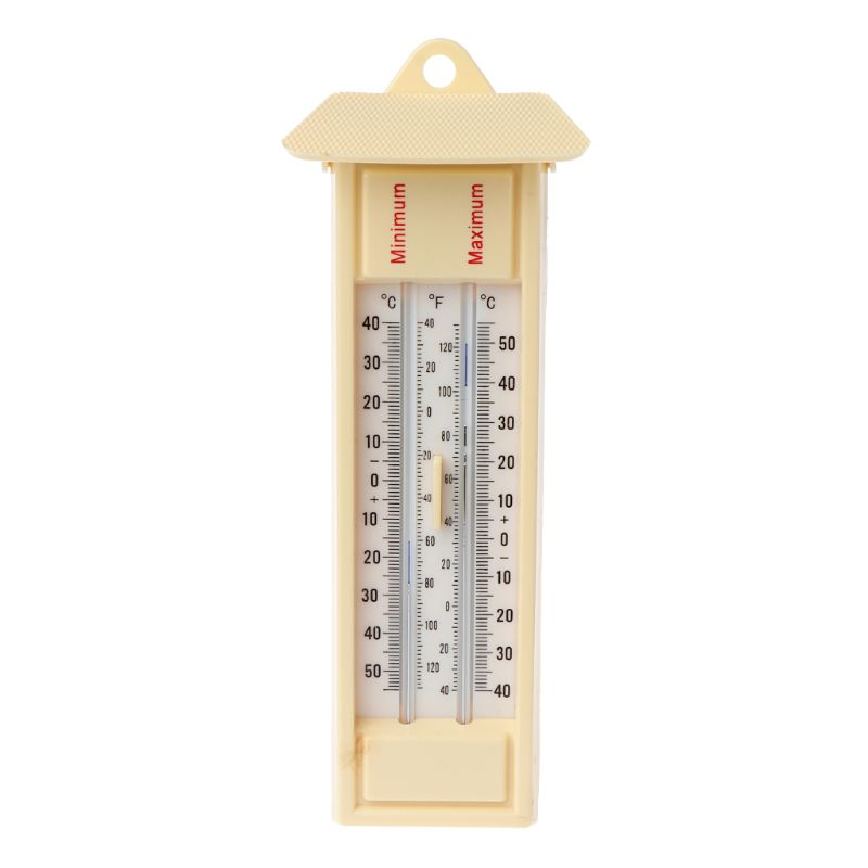 Maximum & Minimum Thermometer - Indoor Outdoor Garden Greenhouse Wall Temperature Monitor -40 to 50C / -40 to 120F