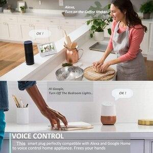 "Image 5 - חכם האיחוד האירופי Plug Wifi הבית החכם Tuya חכם חיים אפליקציה LED אור מתג בקרת שקעים עבור ארה""ב Alexa Google בית מיני IFTTT"