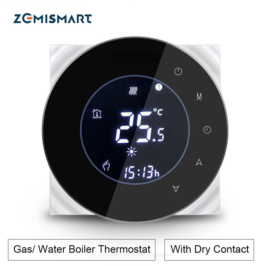 Zemismart  Water Gas Boiler Heater Room Thermostat Wifi APP Controlled Alexa Google Home Voice Control