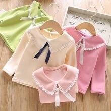 Новое поступление; футболки для маленьких девочек; сезон зима-весна-осень; Детские Бархатные толстовки с капюшоном; свитер с длинными рукавами; детская футболка; одежда