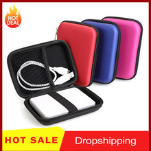 2.5 Inch Hdd Zak Externe Usb Harde Schijf Schijf Carry Mini Usb Kabels Case Cover Pouch Oortelefoon Tas Voor Pc laptop Harde Schijf Case