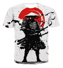 2021 New Cool Japanese Samurai Printed O-neck Men's T shirt, Fashion Street Hip-hop Harajuku Ninja Printed Children's Tops Tees