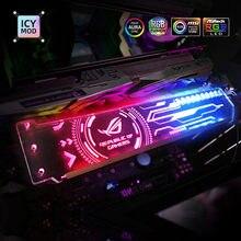 Suporte da placa de vídeo do suporte 5v 3pin personalizável A RGB horizental gpu do rgb vga personalizável personalizar aura 12v refrigerador de água personalizado mod