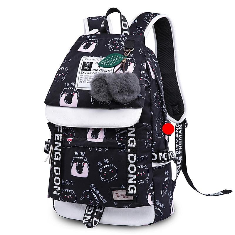 Women School Backpacks USB Charging Backpack School Bags for Teenagers Girls Large Capacity Travel Backpack mochilas