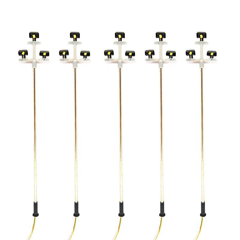 Promotion! 3Led Street Lamp 1:100 Ho Scale Led Street Light Scenery Mini Lamppost For Sand Table Model 3