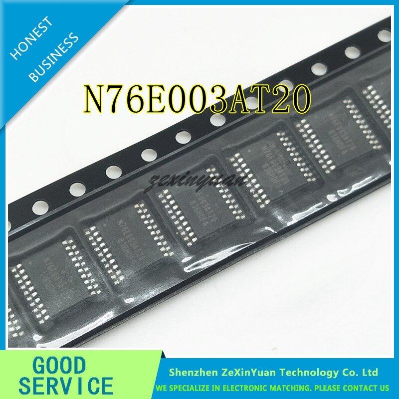 10PCS 76E003 TSSOP20 MCU 8-Bit 8051 CISC 18KB Flash 2.5V/3.3V/5V 20-Pin N76E003AT20
