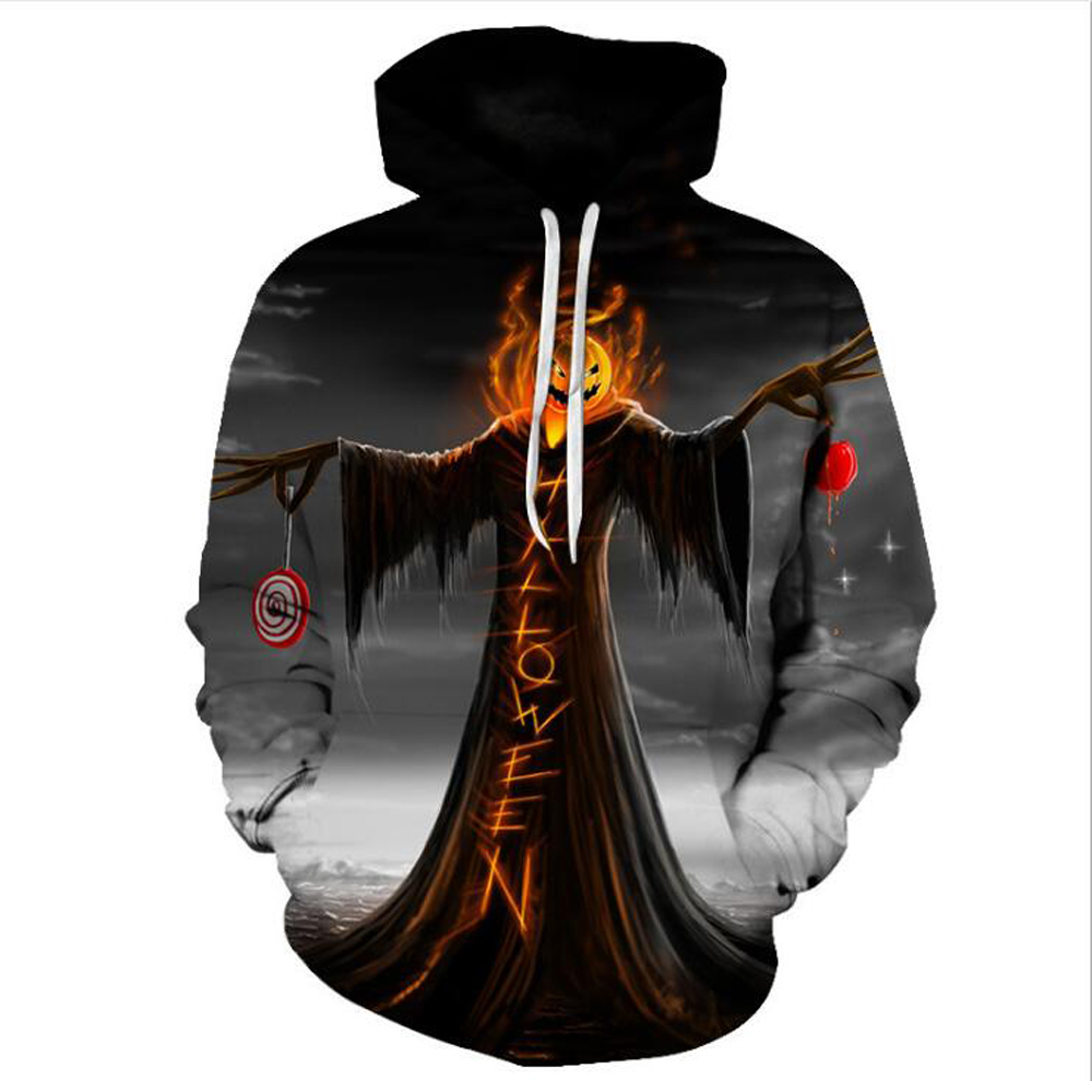 The Nightmare Before Christmas Horror Halloween Skulls Veste 3D Print Pullover Halloween Hoodie Men Sweatshirt Anime Costume