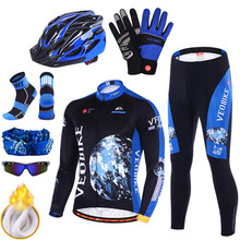 Cycling Jersey Triathlon-Suit Mtb-Wear Mountain-Bike Long-Sleeve Fleece Pro-Team Winter Thermal