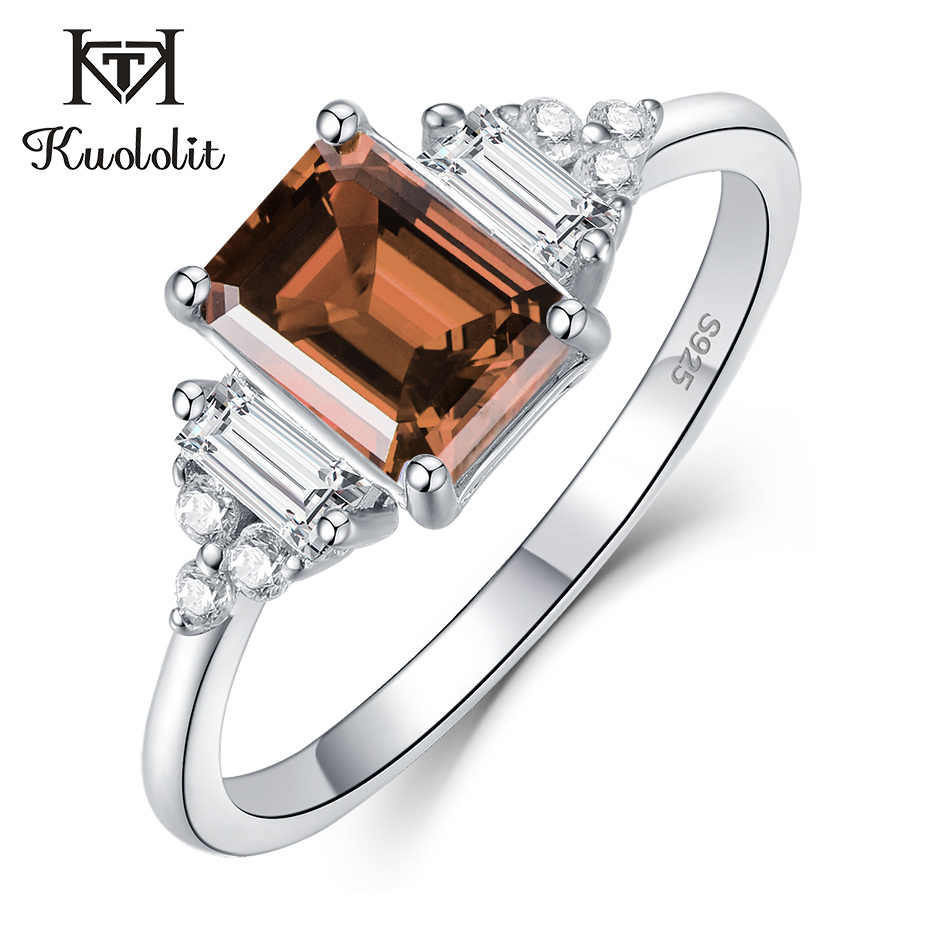 Kuololit Diaspore Sultanite Gemstone Rings for Women Real 925 Sterling Silver Emerald Ruby Topaz Wedding Engagement Fine Jewelry