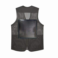 Novel Smart Cool Customizable Innovative Advertising Vest Wearable Flexible Full Color Led Display Black