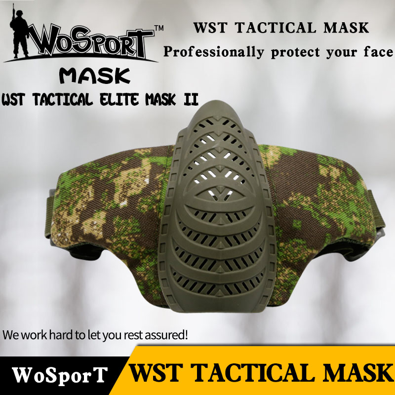 Military Tactical Mask Half Face Paintball Mask Army Metal Steel Mesh Airsoft Shooting Protective CS Game Mask Hunting Mask