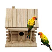 Деревянный домик для птиц, Теплая Коробка для разведения птиц, уличное гнездо, домик, игрушка для домашних животных