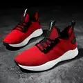 Scarpe da uomo 2019 fly tessuto scarpe da tennis degli uomini scarpe versione coreana del trend di scarpe rosse casuali degli uomini di modo marea scarpe traspiranti
