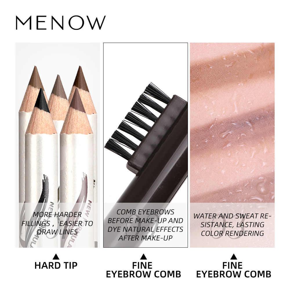 איפור Menow גבה עיפרון גבות סמן עמיד למים גבות קעקוע עבור גבות 5 צבעים Enhancer לצבוע גוון עט לאורך זמן