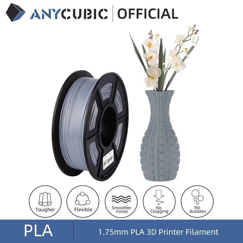 ANYCUBIC 1.75mm PLA Filament For Mega S Mega X Mega Zero Chiron Predator 3D Printer Rubber Consumables Material for Printing