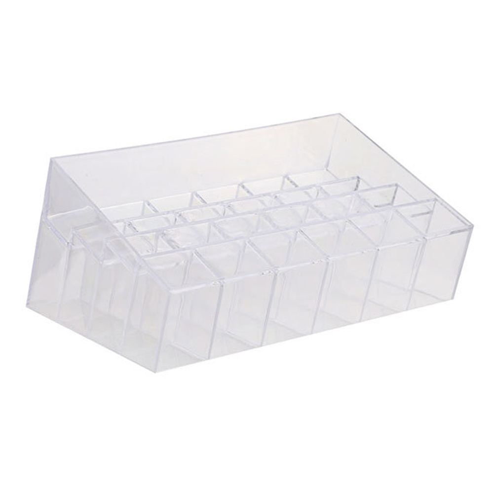 Fashion 24 Lipstick Holder Display Cosmetic Organizer Clear Makeup Case Storage