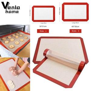 Venlohome Non-Stick Silicone Baking Mat Pad Sheet Baking Pastry Tools Rolling Dough Mat Large Size For Cake Cookie Macaron New