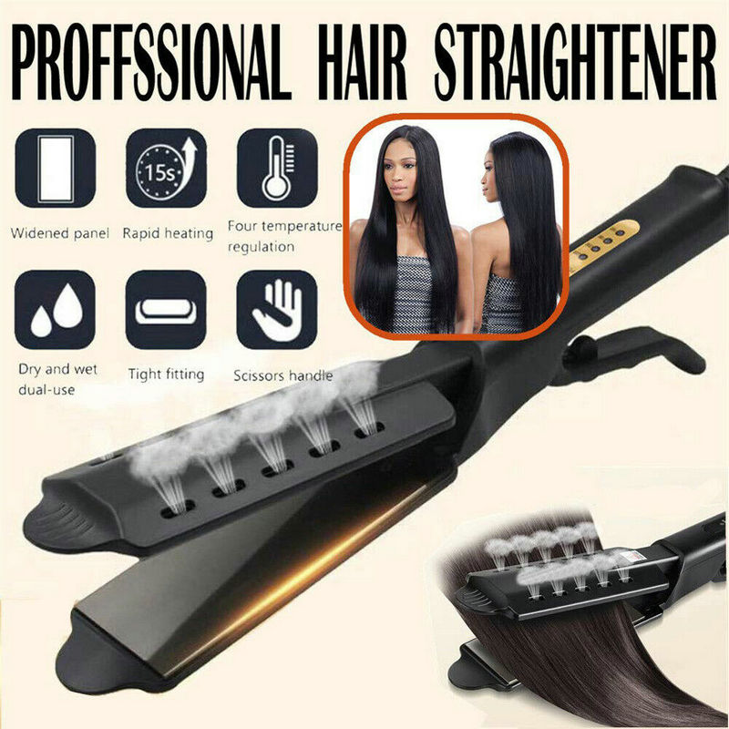 Ceramic Tourmaline Ionic Flat Iron Hair Straightener Professional Glider Salon Hair Straightner