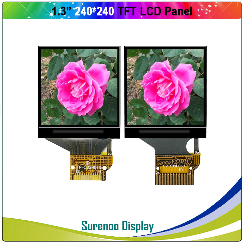 "1.3"" Inch 240*240 Serial SPI / 8_Bit MCU TFT LCD Module Display Screen Panel LCM Build-in ST7789 Driver"