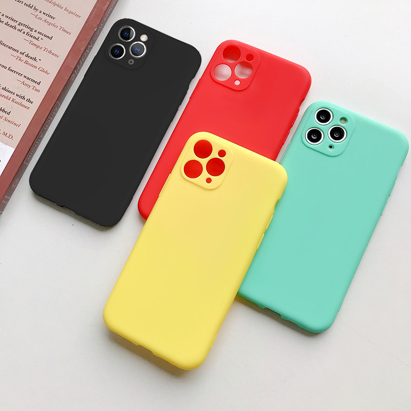 Cute Candy Color Matte Frosted Phone Case για iPhone 11 Pro Max 7 - Ανταλλακτικά και αξεσουάρ κινητών τηλεφώνων - Φωτογραφία 2
