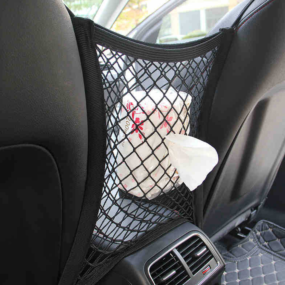 Car Styling Seat Storage Net Bag Mesh For Mini Cooper One S JCW R50 R53 R55 R56 R60 R61 F54 F55 F56 F60 Countryman Accessories image