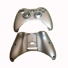 Replacement Part  Silver Plastic Shell Case Front Housing Faceplate  shell  for Xbox 360   Controller