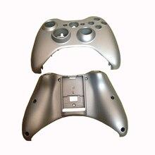 Yedek parça gümüş plastik Shell kılıf ön kapak Faceplate shell Xbox 360 denetleyici