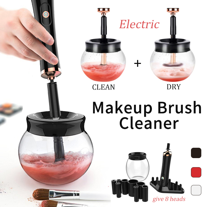 Electric Makeup Brush Cleaner NEW 10 Seconds Dryer Convenient Wash Device Make Up Brushes Washing Cleanser Cleaning Machine Tool