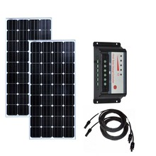 Solar Kit For Home 300w Panel 150w 12v 2 Pcs Charge Controller 12v/24v 30A Battery Charger Motorhome Boat Car