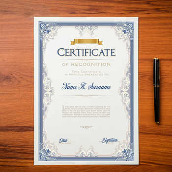 20PCS Honor Certificate Inside Page Creative Award Art Paper A4 Appointment letter of Authorization Award certificate Inner Core