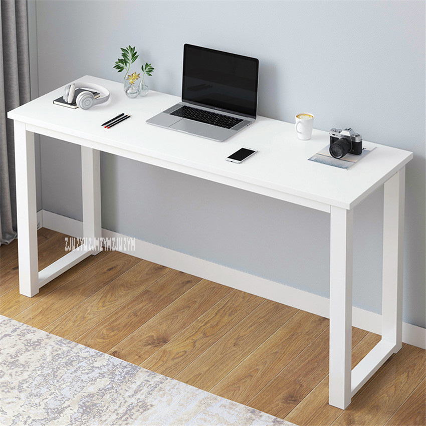 B2783 80/100/120/140cm Modern Manmade Board Steel Frame Office Computer Table Household Economical Large Desktop Study Desk