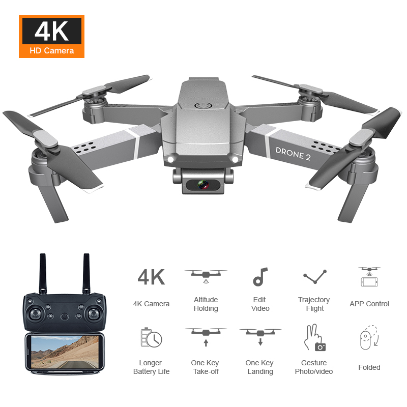 2020 New E68 Wifi Fpv Mini Drone With Wide Angle Hd 4k 1080p Camera Hight Hold Mode Rc Foldable Quadcopter Dron