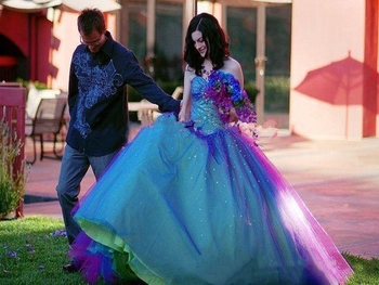 Blue And Purple Quinceanera Gowns Ball Gown Prom Dresses Crystal Beaded Sequins Sweet 16 Dresses Sweetheart vestidos de quincean 3