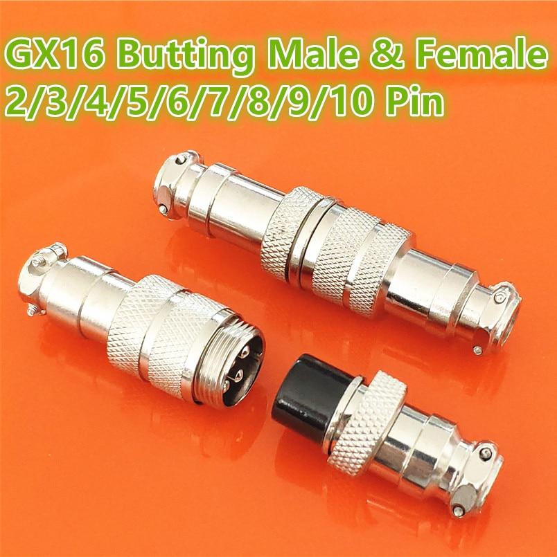 1 takım GX16 Butting yerleştirme erkek ve kadın 16mm dairesel havacılık soket fiş 2/3/4/5/6/7/8/9/10 Pin tel Panel konnektörleri