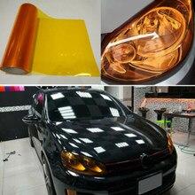 Protetor luz de nevoeiro adesivo matiz vinil envoltório decalques 30*120cm removível 1 carro rolo