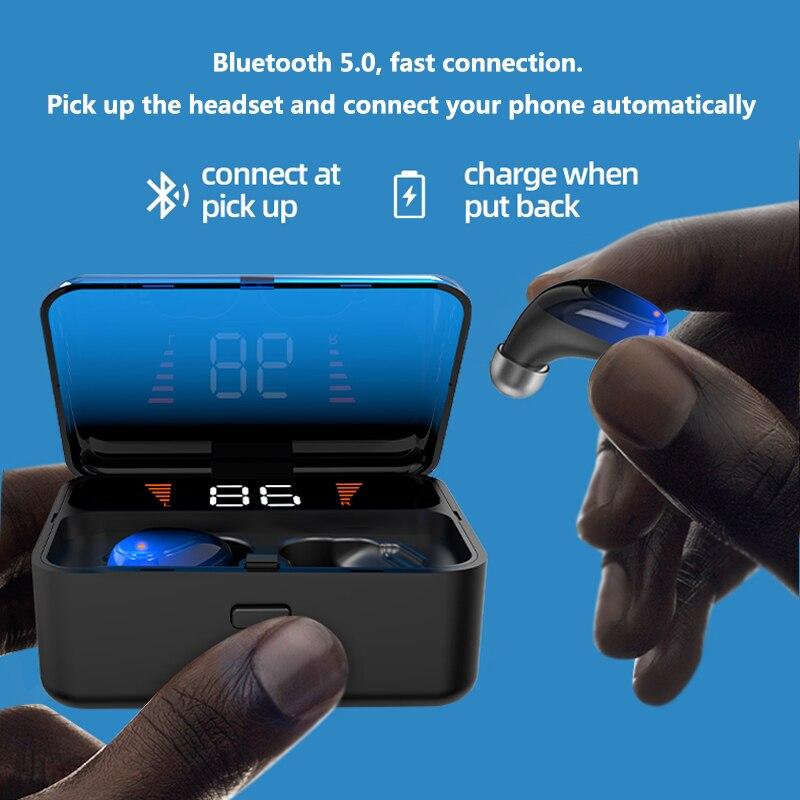 Image 5 - Wireless Headphones Bluetooth 5.0 Earphones True Stereo Earbuds  IPX67 Sports Headset With HD Mic For xiaomi samsung iphoneBluetooth  Earphones