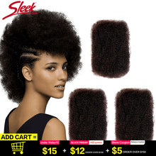 Sleek Remy Bulk No Attachment Mongolian Afro Kinky Curly Wave Human Hair Bulk For 1Pc Braiding Crochet Braids Light as a Feather(China)