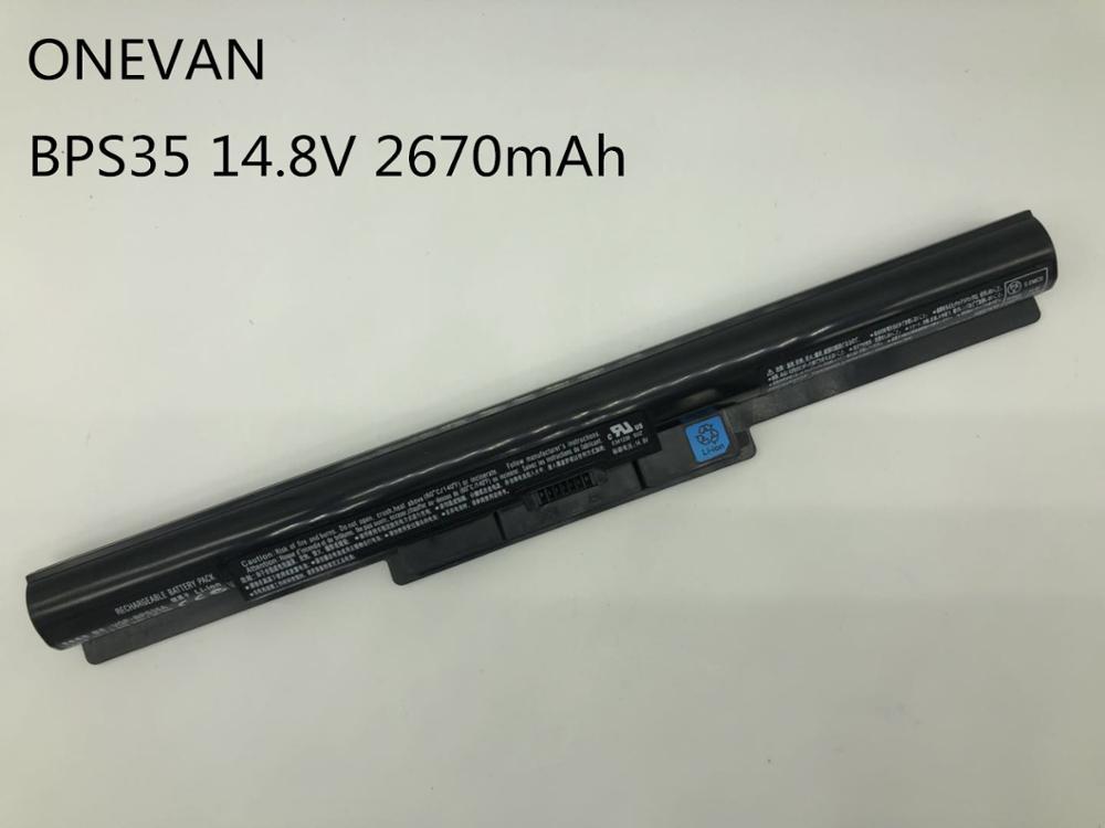 ONEVAN VGP BPS35A VGP BPS35 Laptop Battery For SONY VAIO Fit 14E VAIO Fit 15E Series SVF142C29M SVF152A29M SVF152A27T 4Cells|Laptop Batteries| |  - title=