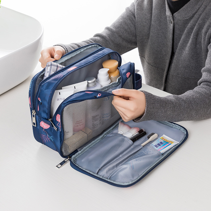 2019 Flamingo Cosmetic Bag Necessaire Travel Organizer Make Up Box Toiletry Kit Wash Toilet Bag Large Capacity Waterproof Pouch