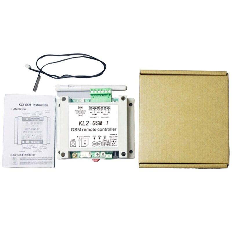 GSM пульт дистанционного управления реле контроллер доступа с 2 реле выход один NTC датчик температуры