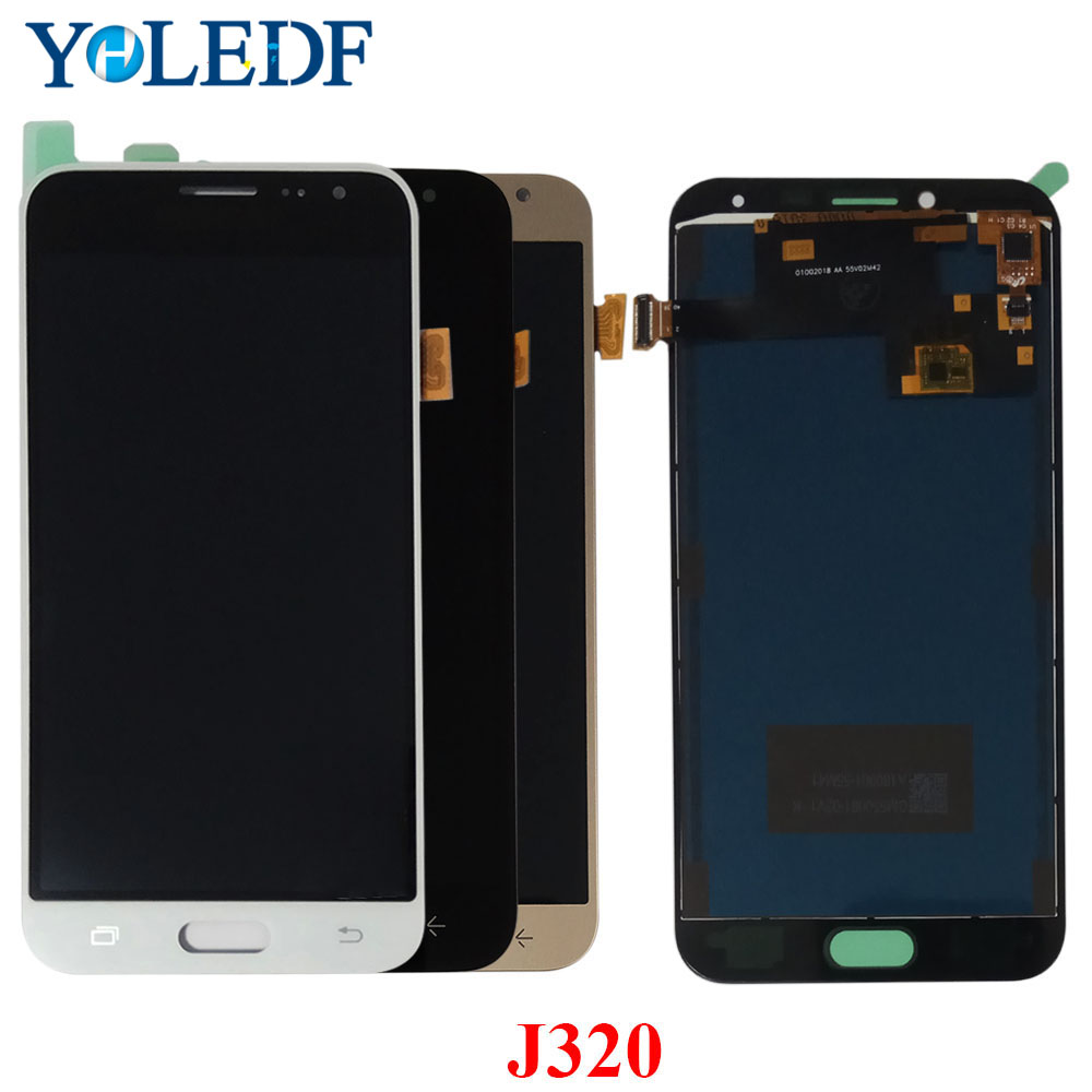 For <font><b>Samsung</b></font> Galaxy J3 2016 J320 J320F J320M <font><b>J320FN</b></font> <font><b>LCD</b></font> Display Touch Screen Pantalla Digitizer Assembly Monitor Replacement Part image