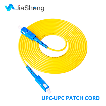 цена на 10Pcs/Lot 1M 2M 3M 5M SC/UPC-SC/UPC Simplex 9/125 Single Mode SM Fiber Optic Cable Patch Cord Fiber Jumper