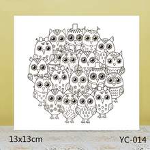 AZSG Cute big eyes owl Clear Stamps For DIY Scrapbooking/Card Making/Album Decorative Rubber Stamp Crafts