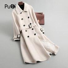 PUDI Winter Woman Real wool fur coat jacket overcoat womens long warm leisure coats jackets  TX905