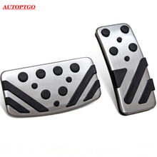 Stainless Steel + Rubber AT/MT Car Gas/Brake/Clutch Pedal Pad Cover Kit For Mitsubishi Outlander Lancer ASX RVR Eclipse Cross car gas accelerator pedal clutch and brake pedal for mitsubishi outlander asx lancer ex 3pc lot car styling