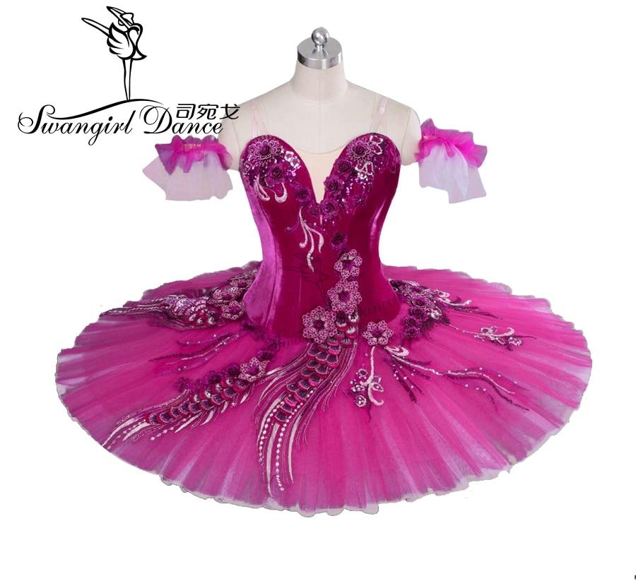 Pravljična temno roza Don Quijote variacije Profesionalna baletna - Odrska in plesna oblačila