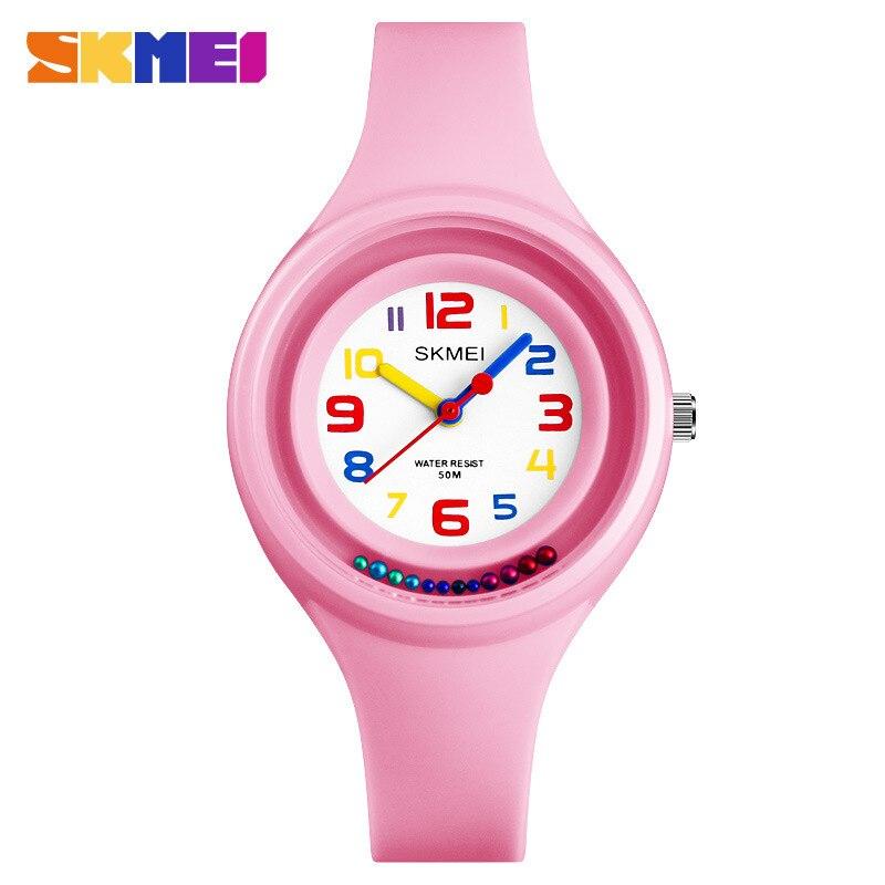 SKMEI Fashion Children Watches Luxury Ladies Quartz Kids Watch Silicone 50M Waterproof Student Wrist Watches For Girls And Boy